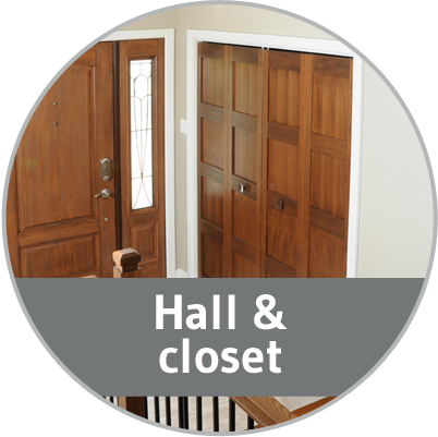 Hall and closet (decor ideas)